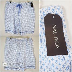 Nautica White Ditsy Printed Pajama Shorts M (NWT)